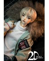 Cream 2D-DOLL 68cm SD17 size boy doll BJD