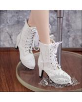 white high heel boots/shoes【Air Castle】for bjd SD/MSD 1/3 an...