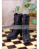 black high heel boots/shoes【Air Castle】for bjd SD 1/3 girl d...