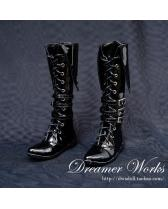 black long army boots【Dreamer Works】for bjd SD/MSD SD17 ID 1...
