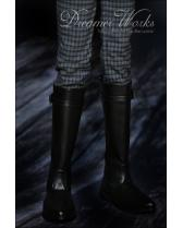 black simple long army boots【Dreamer Works】for bjd SD/MSD SD...